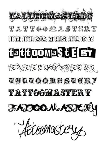 Шрифты для тату - подбери красивую фразу для