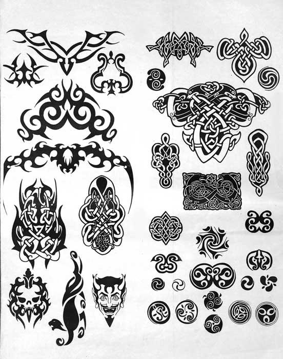 кельтские рисунки тату